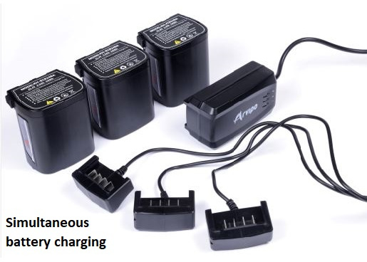 Arvipo PS37 simultaneous battery charging