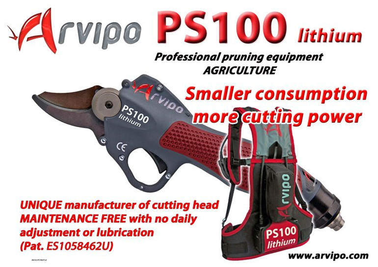 Arvipo,electronic,electric,pruning,harvesting,secateurs,shears,trimmers