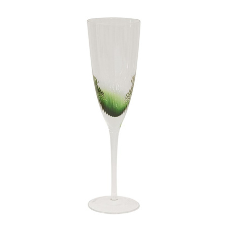 Ascott green champagne glass set 4
