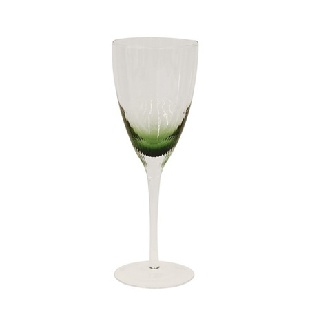 Ascott green wine glasses set 4