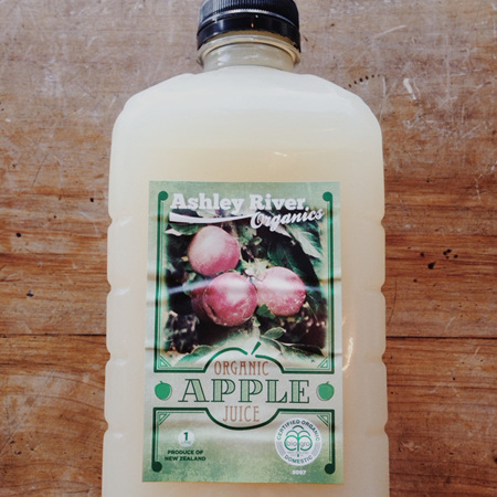 Ashley River Organic Apple Juice 1ltr