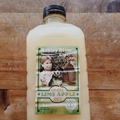 Ashley River Organic Lime Apple Juice 1ltr
