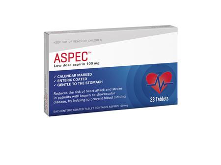 Aspec (low dose aspirin) 100mg 28s
