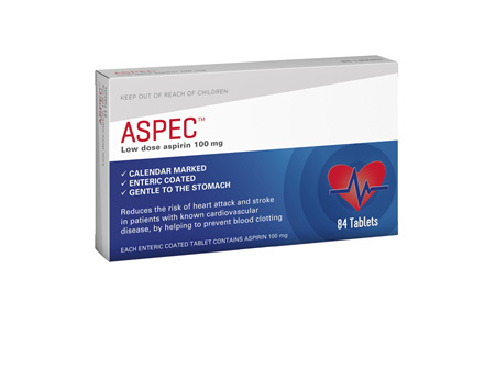 Aspec (low dose aspirin) 100mg 84s
