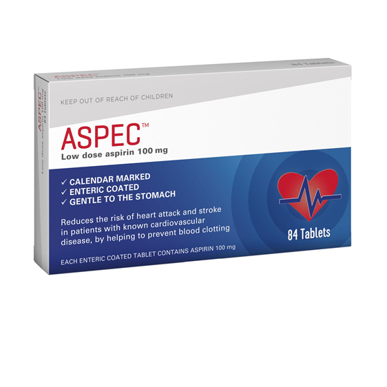 Aspec (low dose aspirin) 100mg 84s