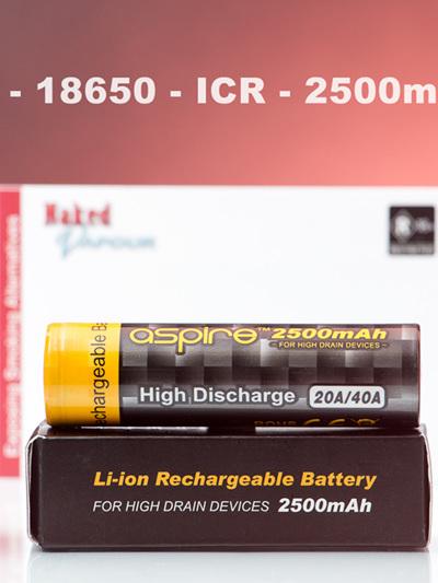 Aspire - 18650 - ICR - 2600mAh - 40A