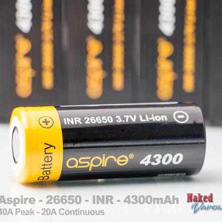Aspire - 26650 - INR - 4300mAh