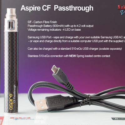 Aspire CF Passthrough Battery - 900mAh