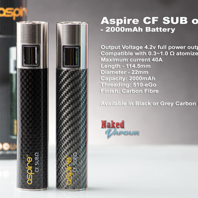 Aspire CF SUB ohm - 2000mAh Battery