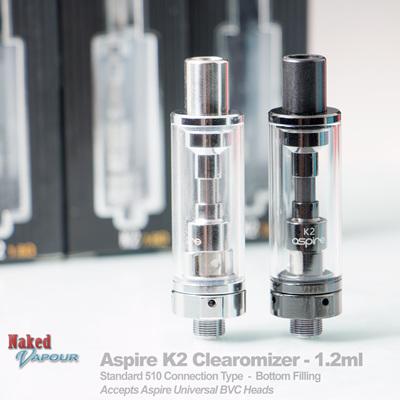 Aspire K2 Clearomizer - 1.8ml