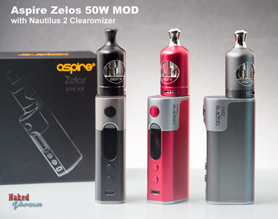 Aspire Zelos 50W MOD with Nautilus 2 Clearomizer