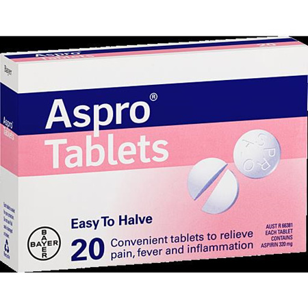 ASPRO TABLETS 320MG 20 Pack