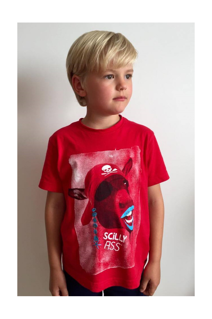Kids' Scilly Ass Tee in red
