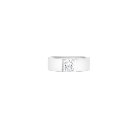 Asscher Princess Cut Diamond Ring