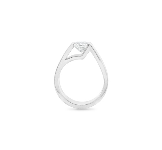 Asscher Princess Cut Diamond Ring