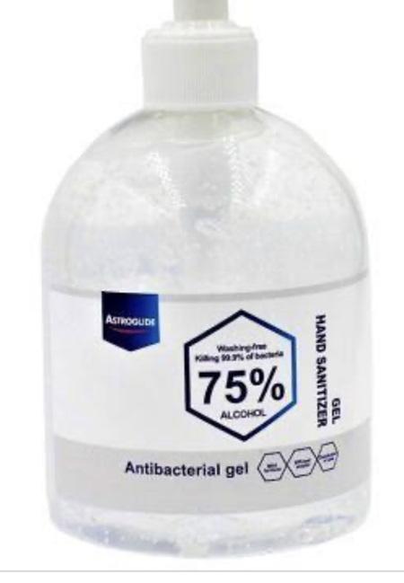 ASTROGLIDE hand sanitizer