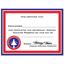 Astronaut Certificate x 12
