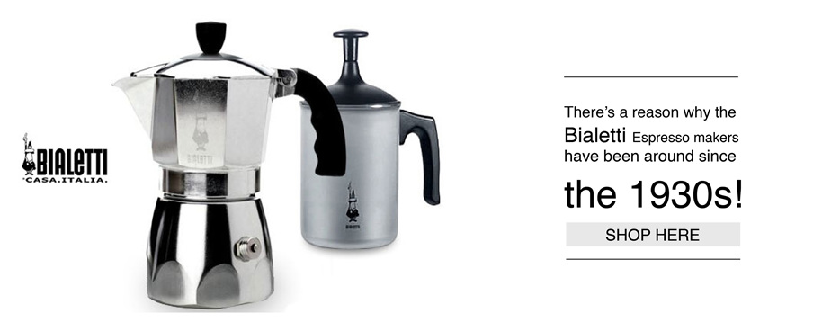 At Mooch we have a great range of Bialetti Espresso makers