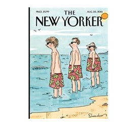 At The Beach - New Yorker card