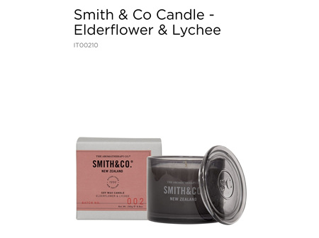 ATC Smith&Co Candle E/flw&Lych 100g