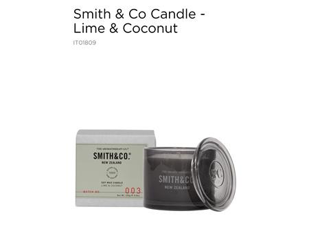 ATC Smith&Co Candle L/Cnut 100g
