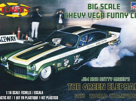 Atlantis 1/16 Green Elephant Chevy Vega Funny car (ALM1494)