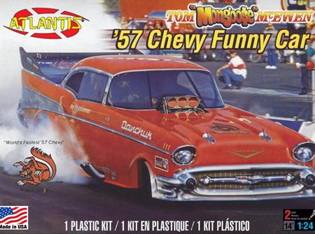 Atlantis 1/24 Tom Mongoose McEwen 1957 Chevy Funny Car (ALM7172)