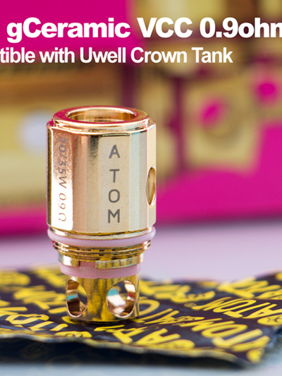 Atom gCeramic VCC 0.9ohm Coils - compatible with Uwell Crown Tank