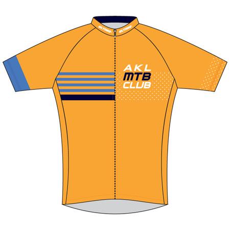 Auckland MTB Club Cycle Jersey Orange