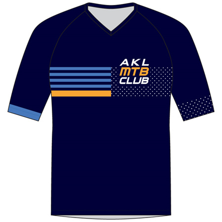 Auckland MTB Club Kids' MTB Jersey Blue
