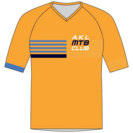Auckland MTB Club Kids' MTB Jersey Orange