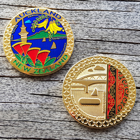 Auckland New Zealand Geocoin (2013)