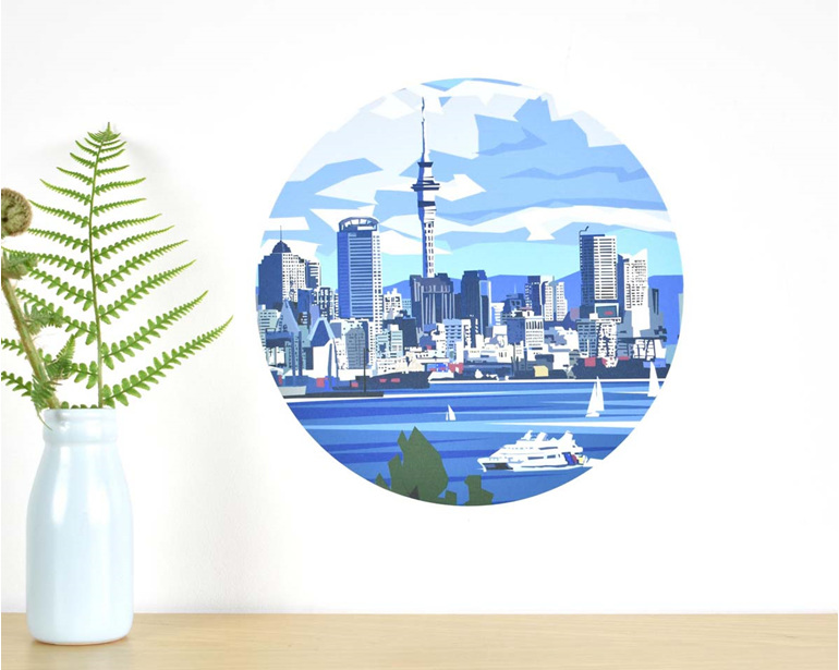Auckland waterfront wall decal