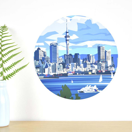 Auckland Waterfront wall decal dot