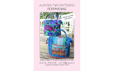 Aunties Two Patterns Poppins Bag