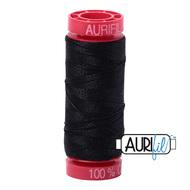 Aurifil Quilting Thread 12wt Black 2692