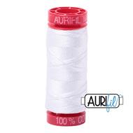Aurifil Quilting Thread 12wt White 2024
