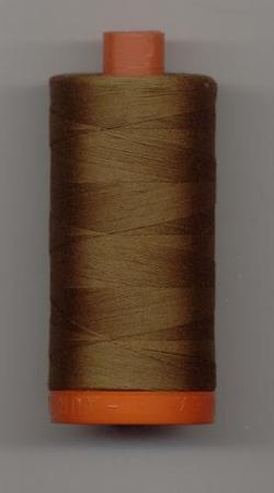 Aurifil Quilting Thread 40 or 50wt Dark Antique Gold 2372