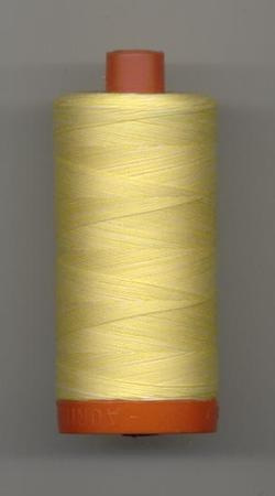 Aurifil Quilting Thread 40 or 50wt Lemon Ice- Verigated 3910