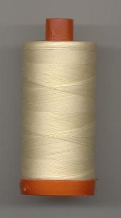 Aurifil Quilting Thread 50 or 80wt Butter 2123