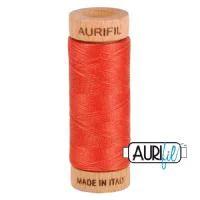 Aurifil Quilting Thread 80wt Dark Red Orange 2255