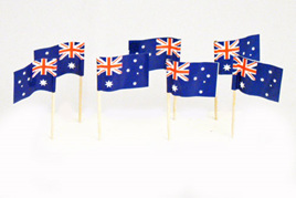 Australian Flag Picks x 20