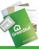 Autex Greenstuf, free sample. polyester insulation, itchy free insulation