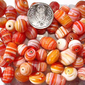 Autumn Marble Bead Mix