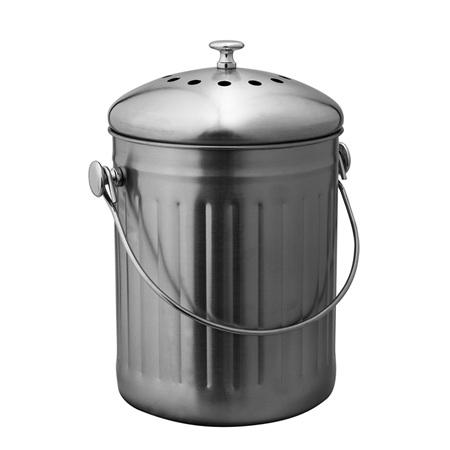 Avanti Compost Bin - 18x27cm/5L - Stainless Steel