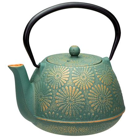 Avanti Daisy Teapot Set 1.2L Teal/Gold