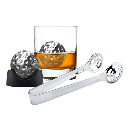 Avanti Ice Golf Ball Set With Tongs - Trays And Velvet Pouch In Magnetic Gift Box