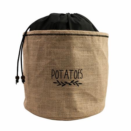 Avanti Potato Storage Bag - 24 x 24cm - Jute