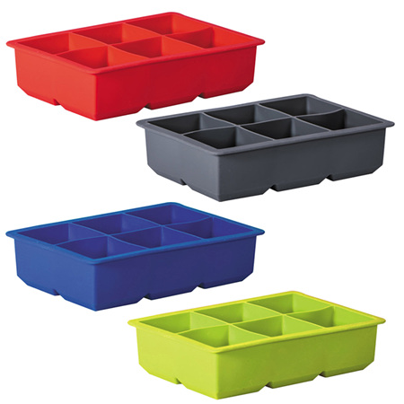 Avanti Silicone 6 cup King Ice Cube Tray - 4 Colours