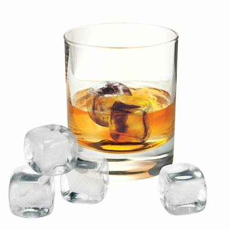 Avanti Whisky Rocks Set 6 Piece Set With Velvet Pouch And Box - Crystal